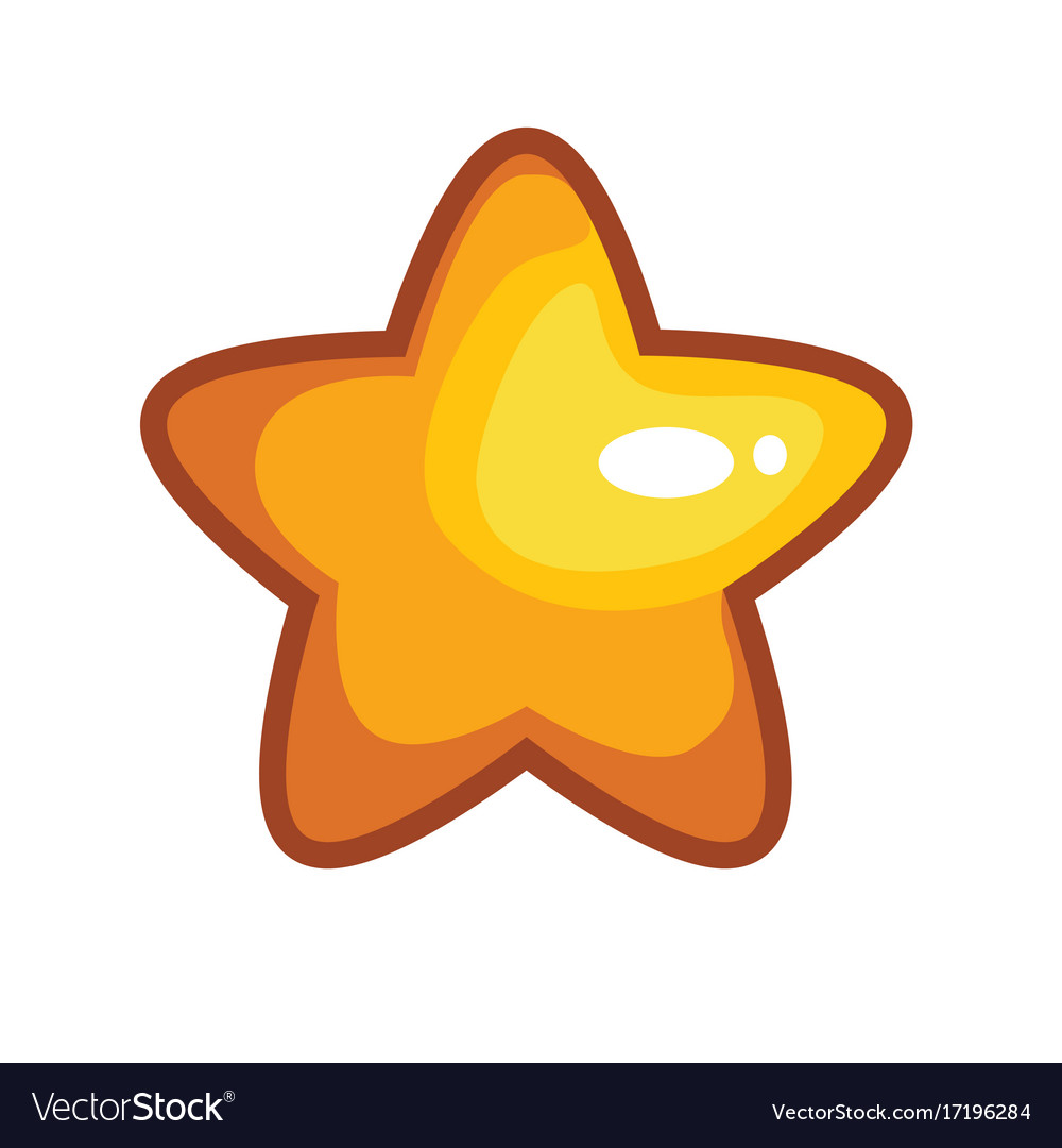 Logo with cartoon star vector image
