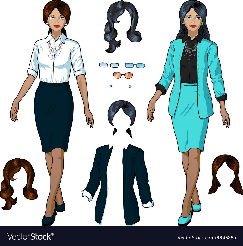 Indonesian Businesswoman in elegant formal wear vector image