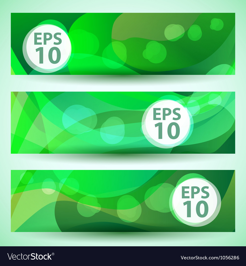 Green banner vector image