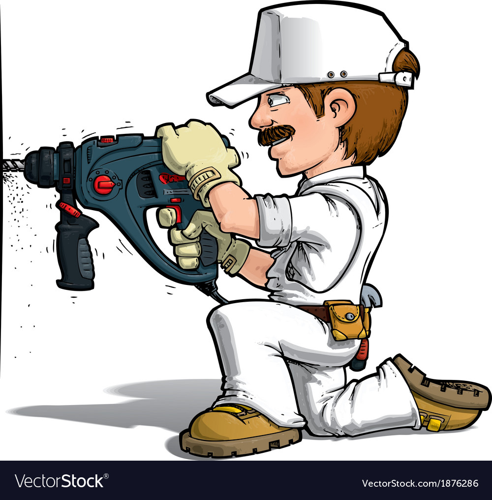 handyman drilling color it yourself royalty free vector