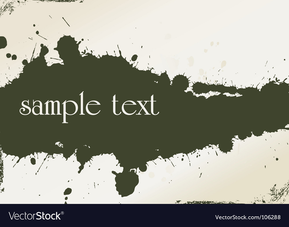 Grungy template vector image