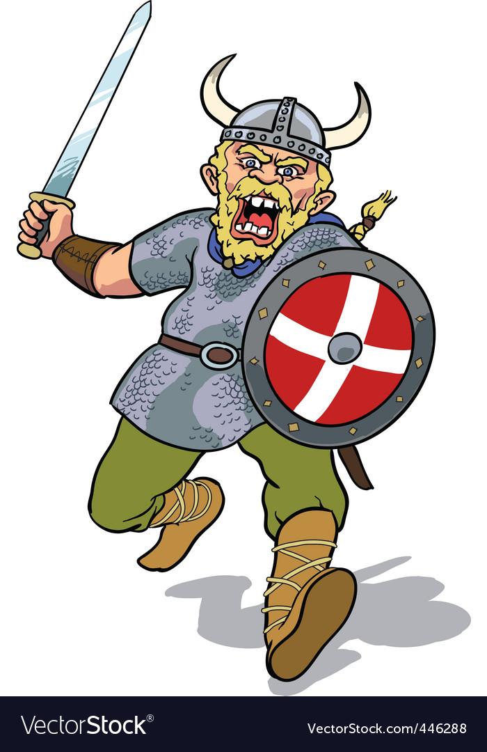 Viking charging vector image