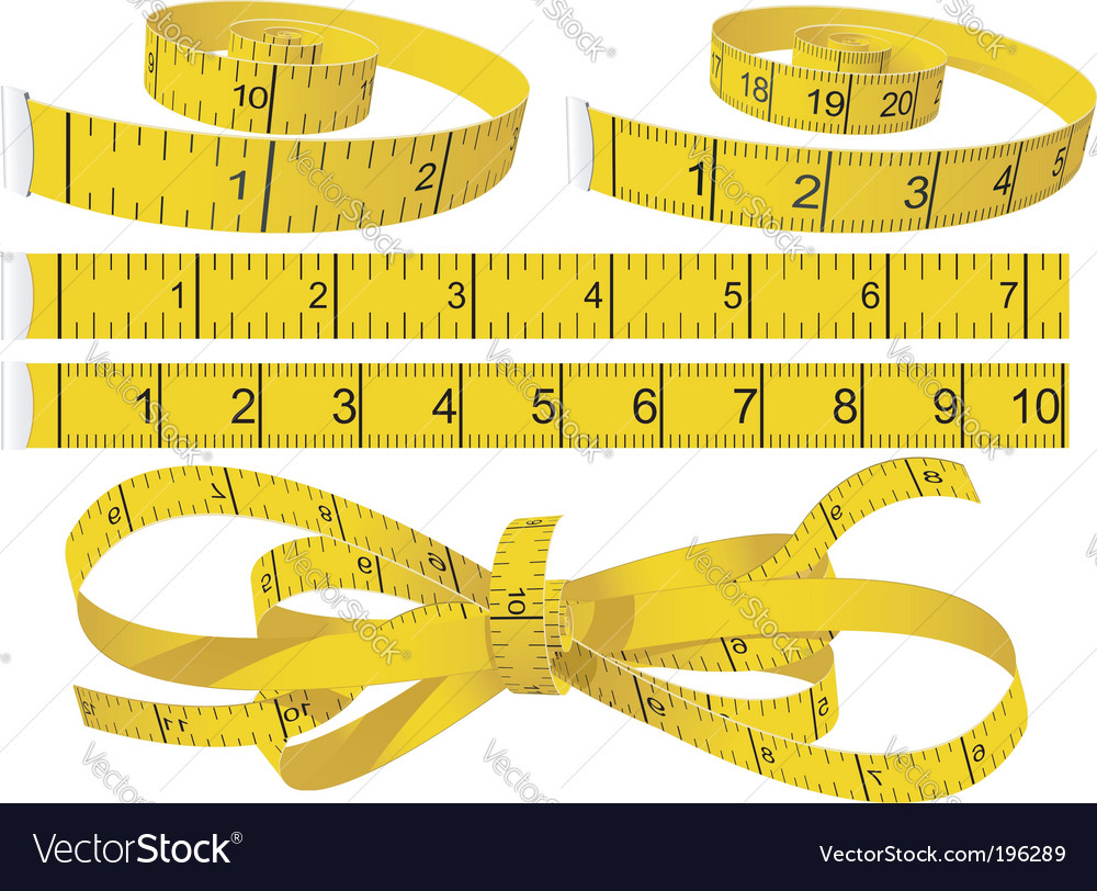 Measuring tapes vector image
