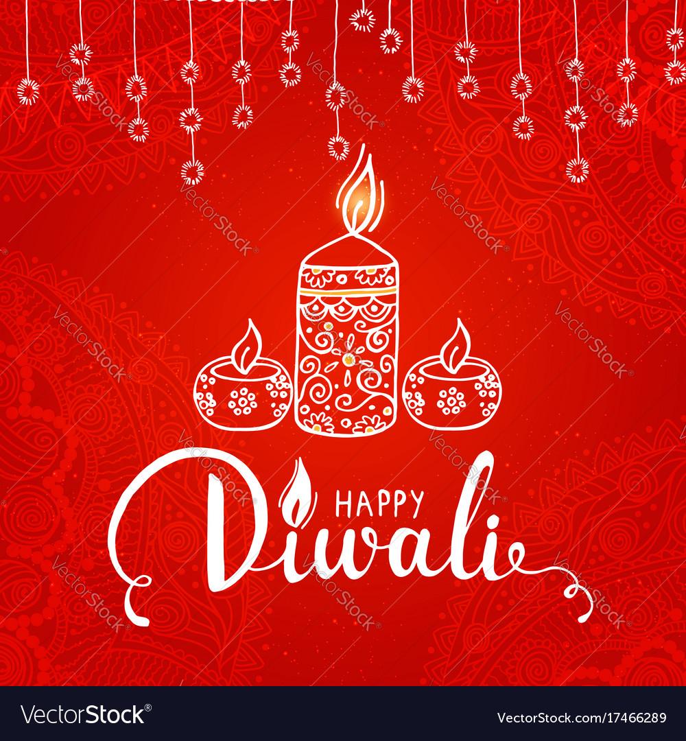 Elegant card design of traditional indian festival vector image