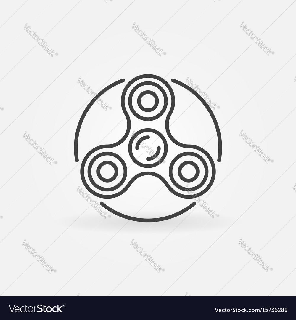Fidget spinner icon vector image