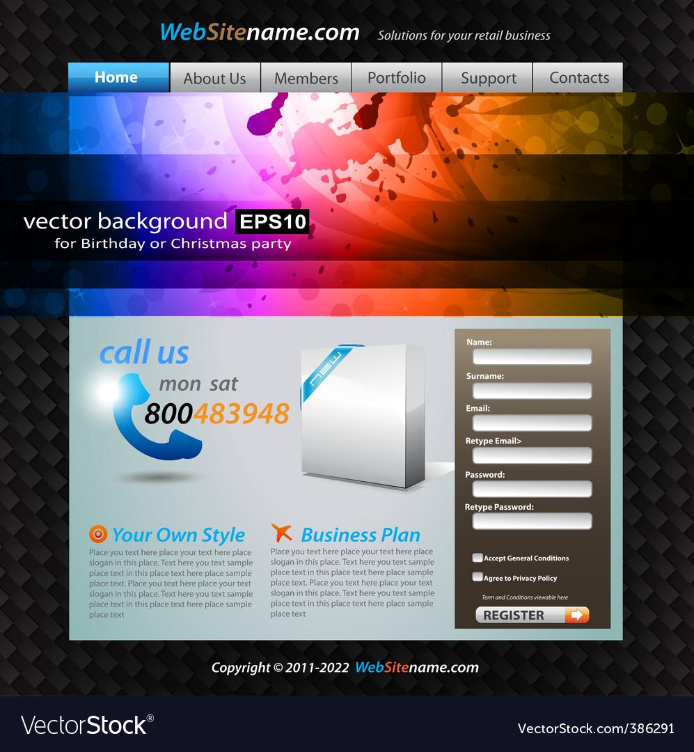 Stylish web developing vector image