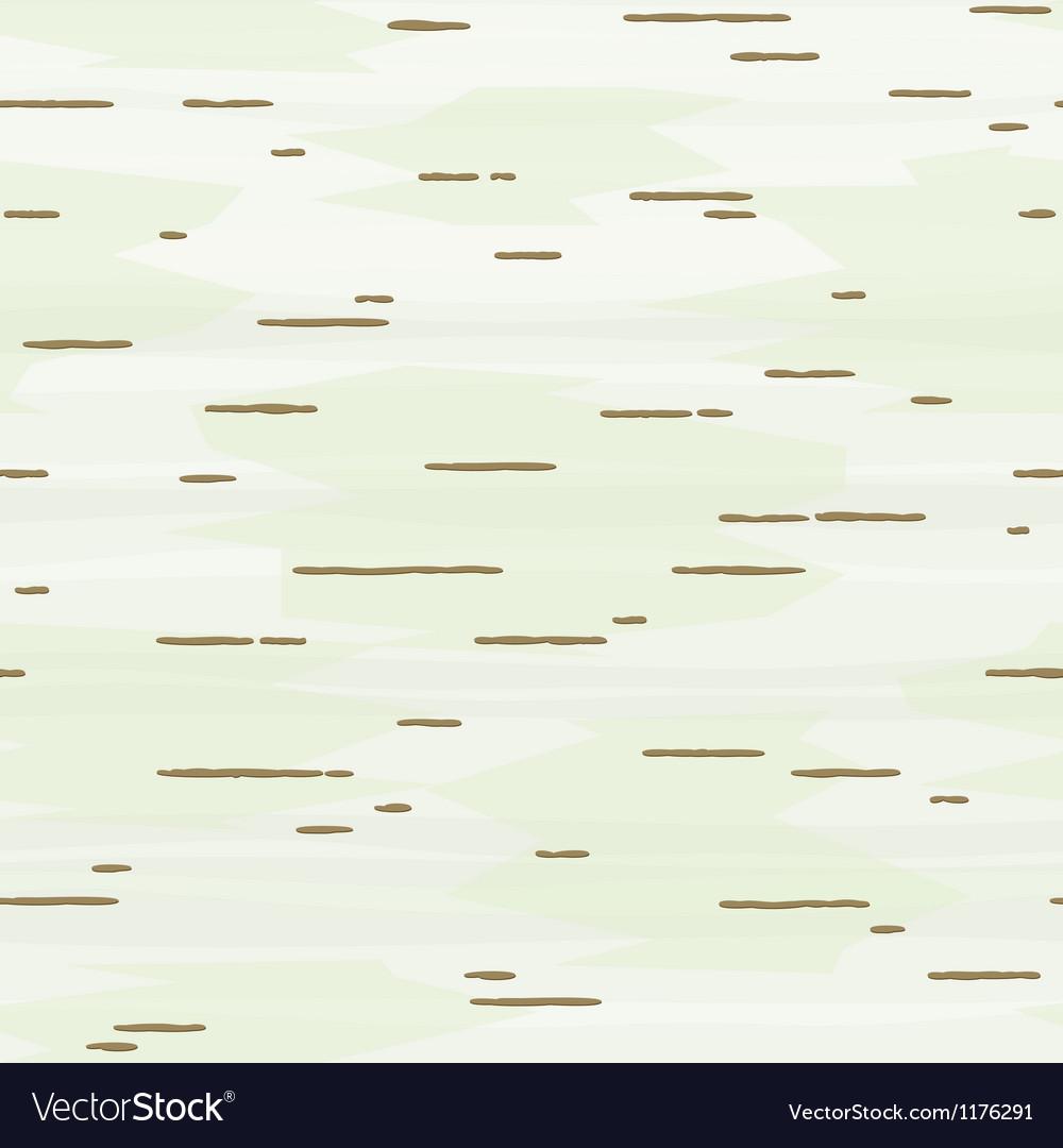 Birch bark seamless pattern vector image