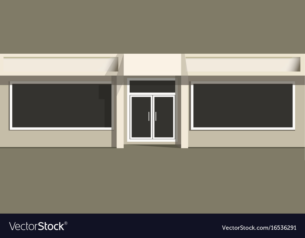 Entrance and windows of store vector image