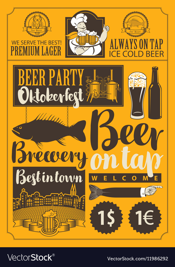 Pub and brewery vector image