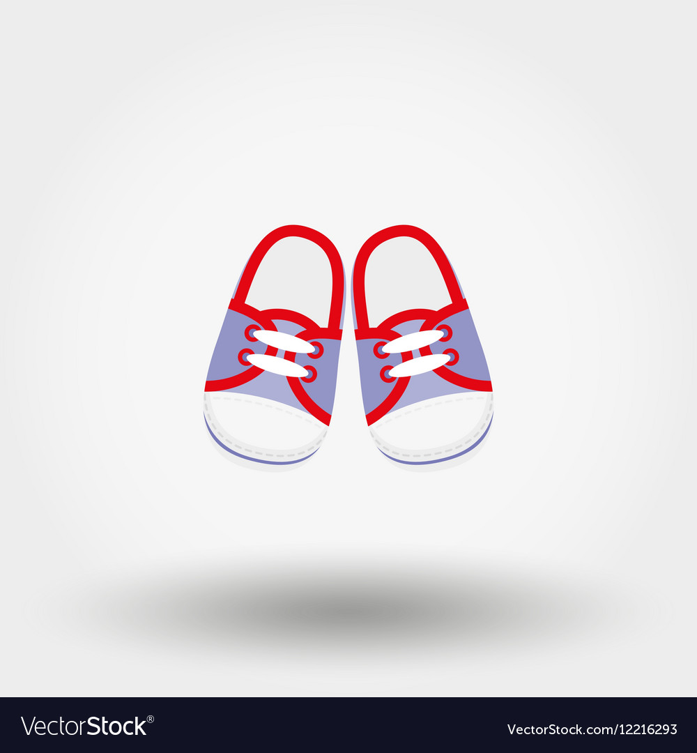 Baby booties sneakers vector image