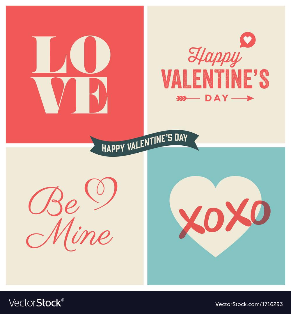 Design elements valentine day set two vector image