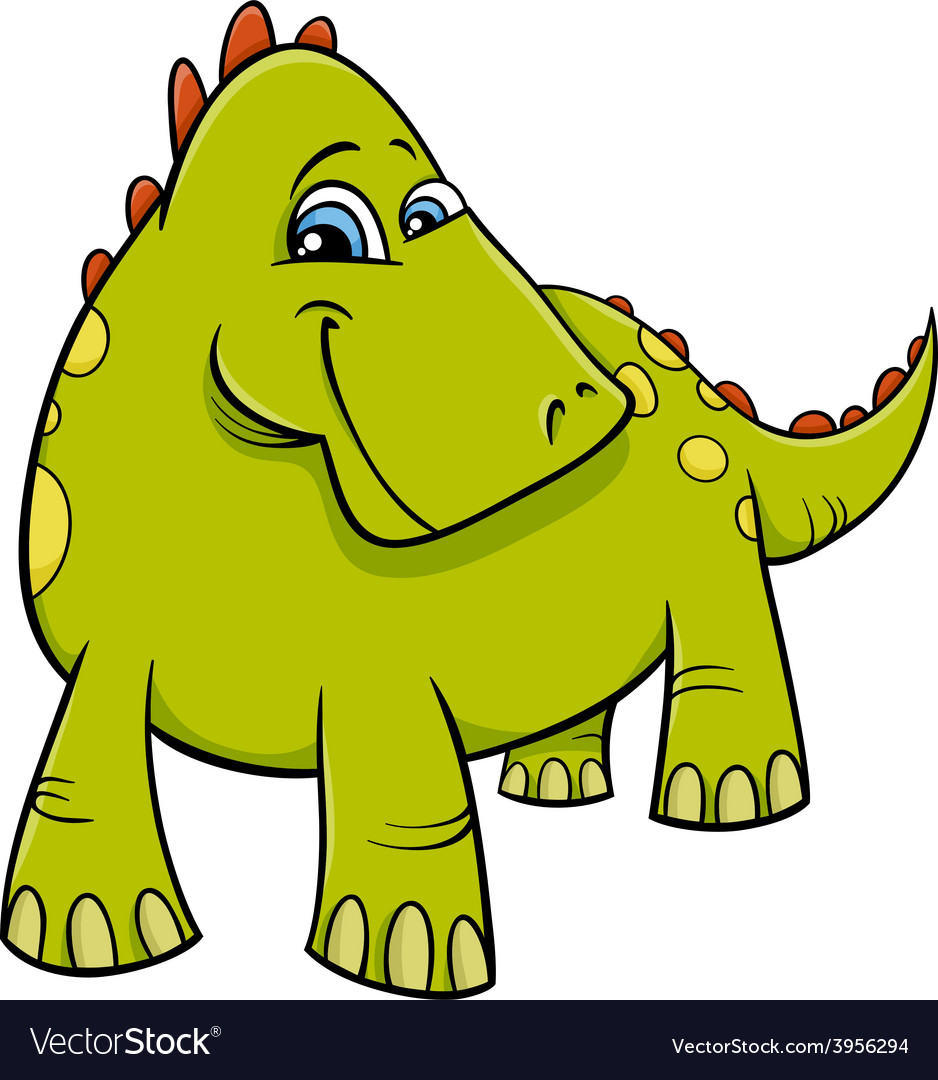 Dinosaur or dragon cartoon vector image