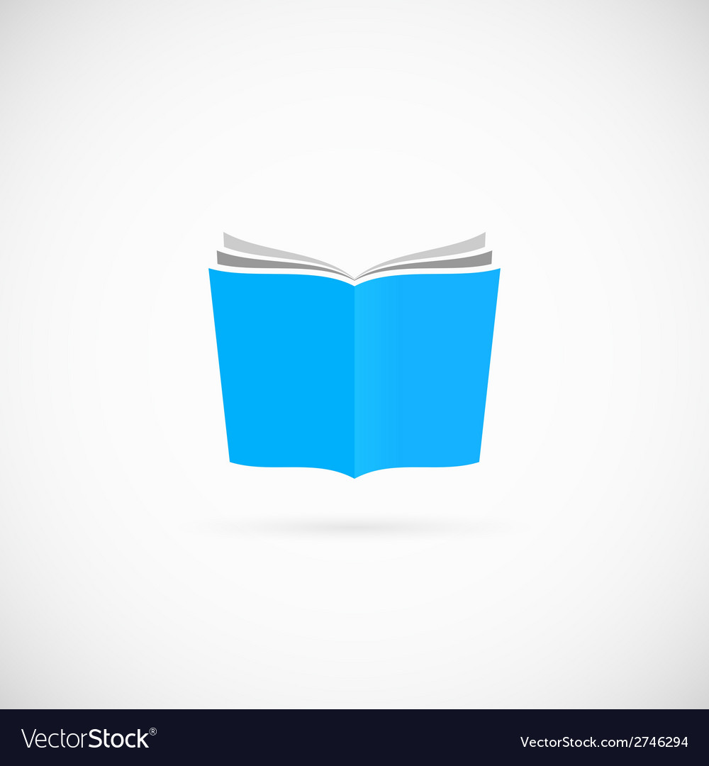 Open Book Symbol Icon or Logo Template vector image