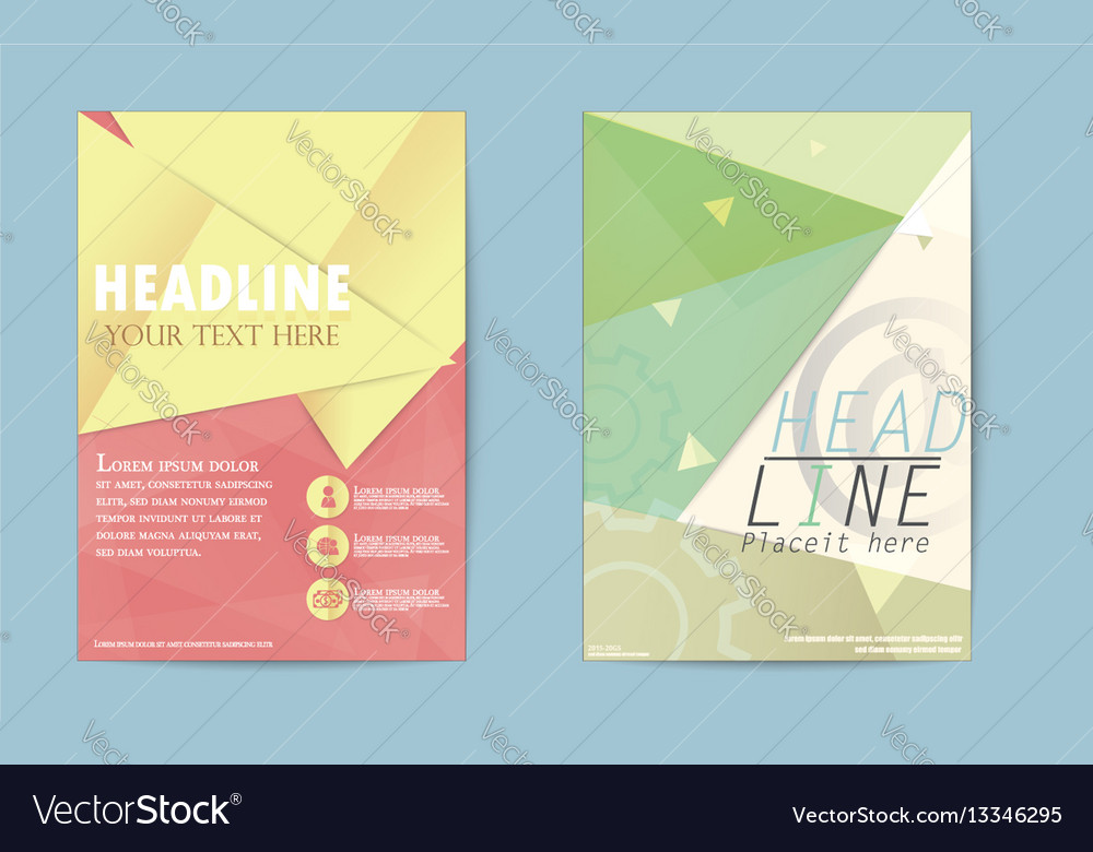 Abstract triangle brochure flyer design business vector image