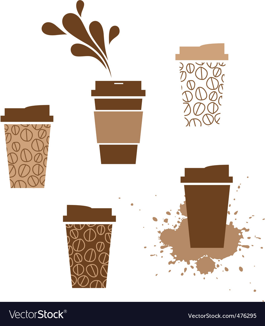 Takeaway coffee cup vector image