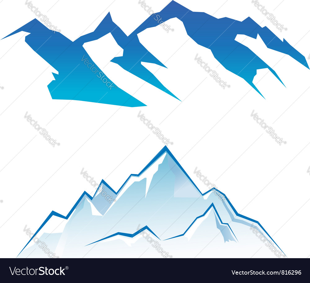 Mountain set vector image