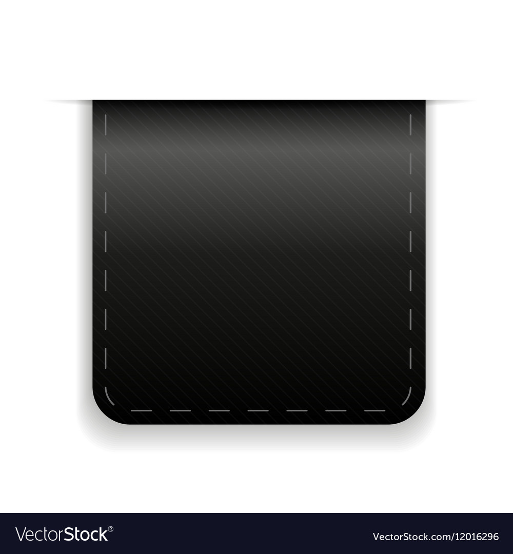 Empty ribbon black vector image