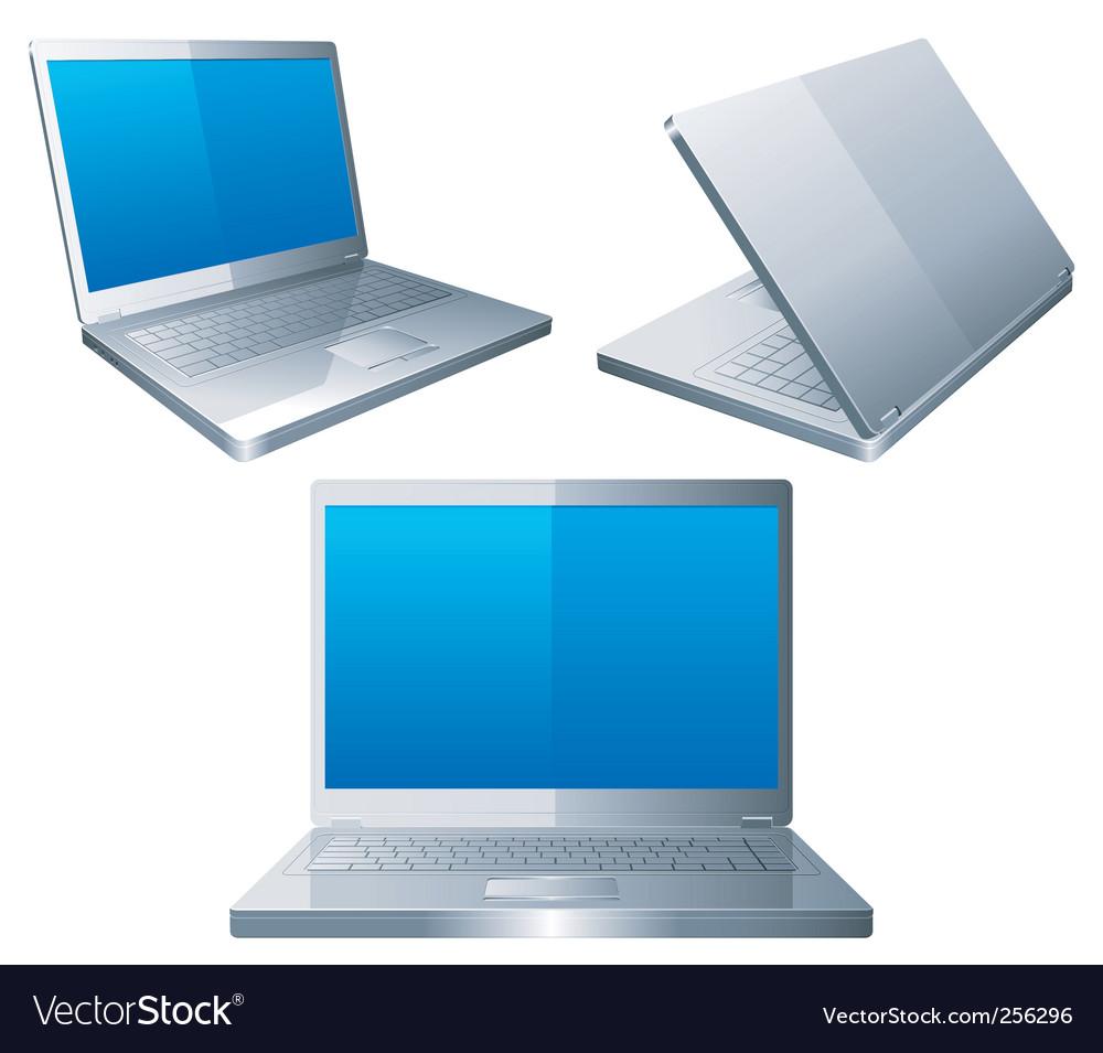 Laptops vector image