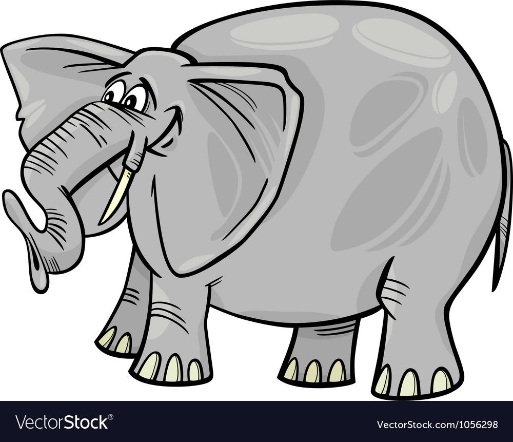 elephant cartoon royalty free vector image vectorstock