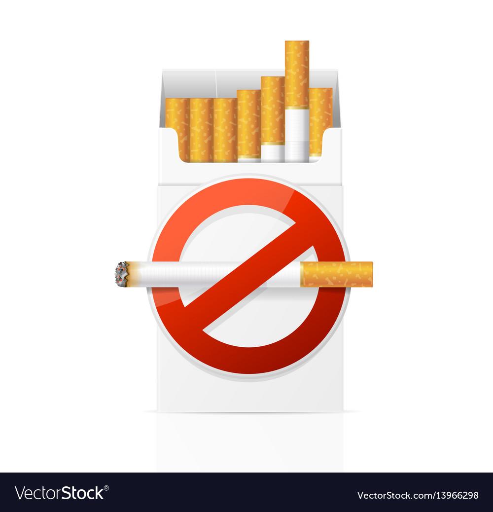 No smoking concept vector image