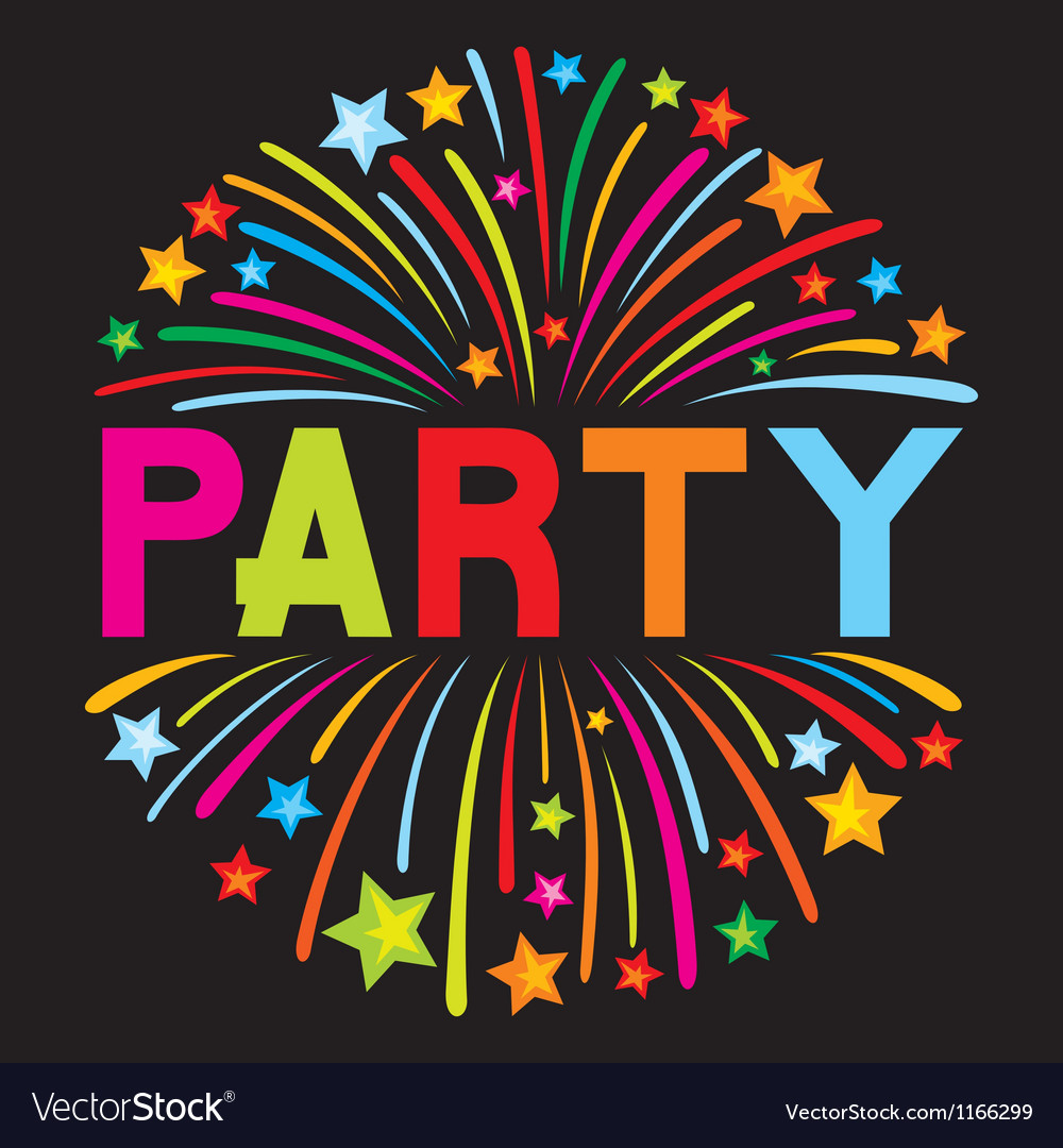 Party firework vector image