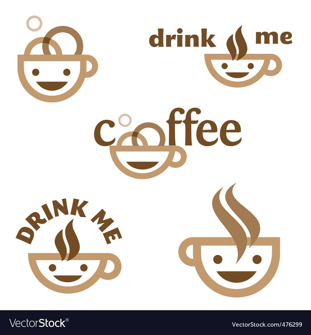 Coffee drink me emblem vector image