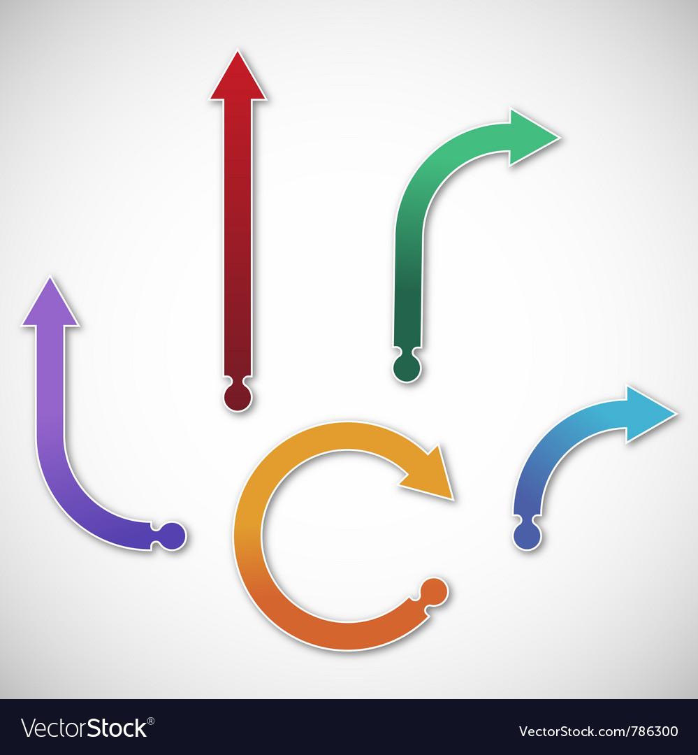 Collection of gradient arrows Vector Image