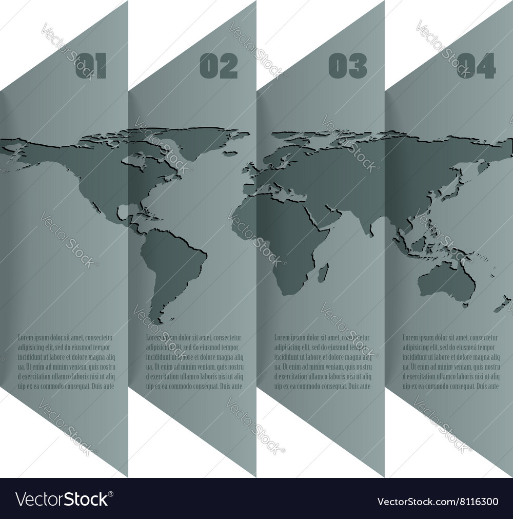 Infographic with map of world vector image