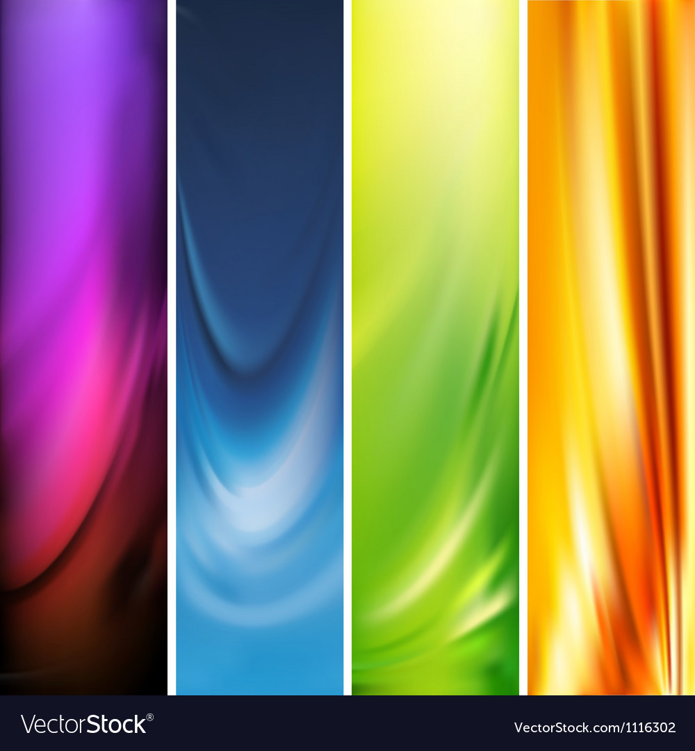 Vertical banner vector image
