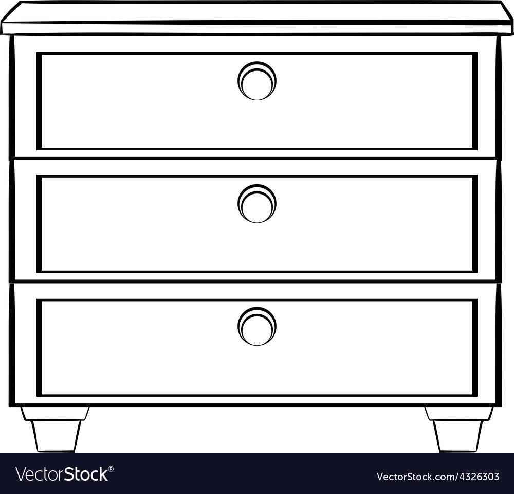 Cabinet Royalty Free Vector Image - VectorStock