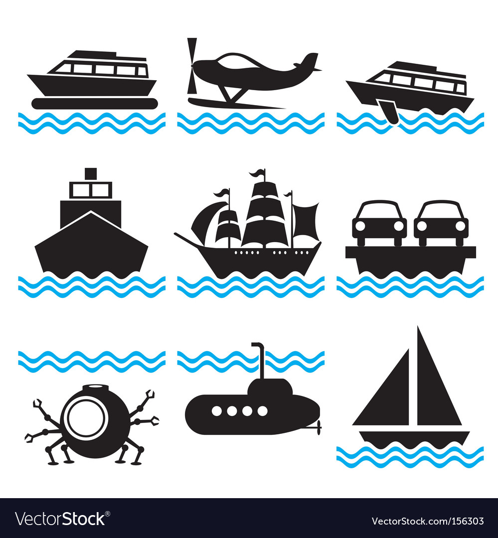 Icons boat vector image