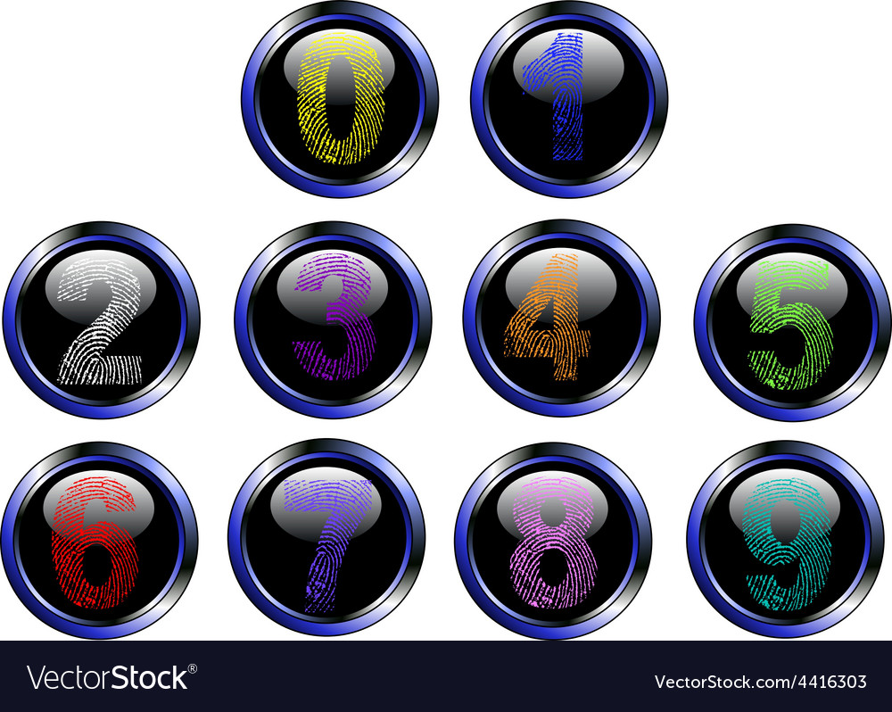 Touch the Button vector image
