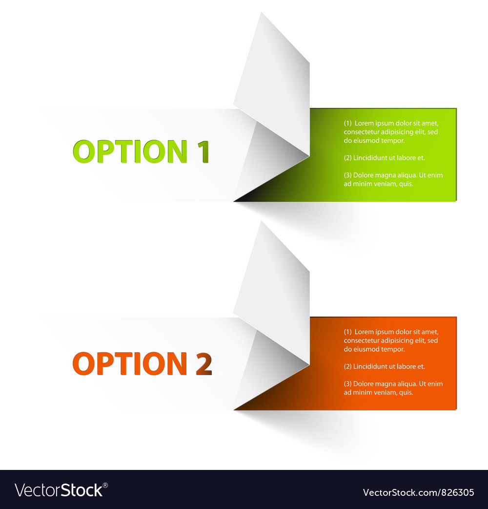 Option tags vector image