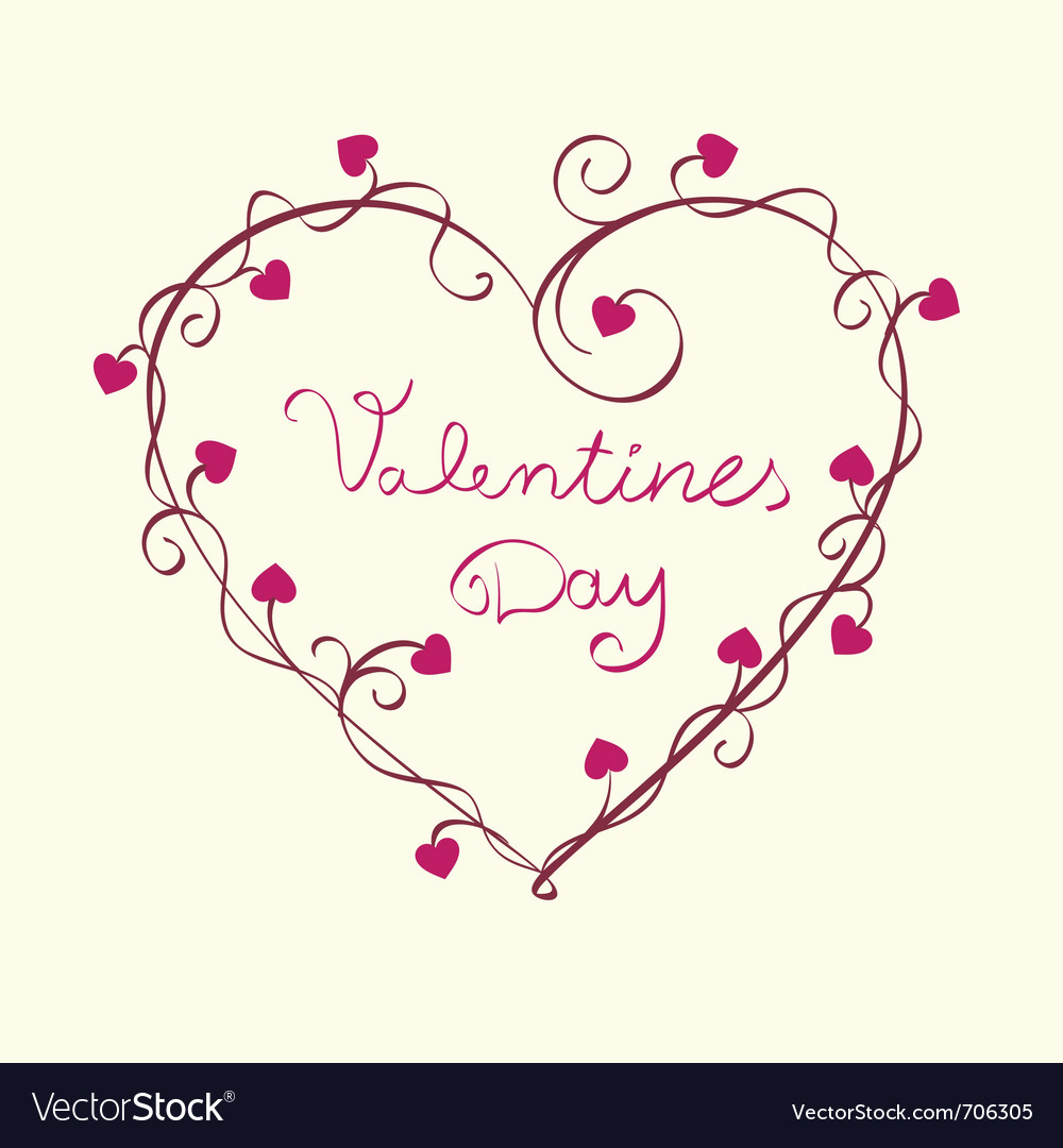 Valentines hearts background vector image