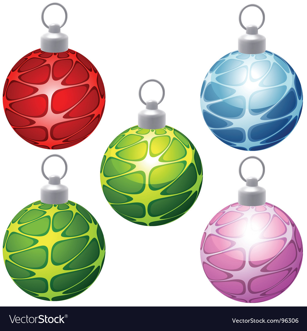 Special Christmas balls vector image