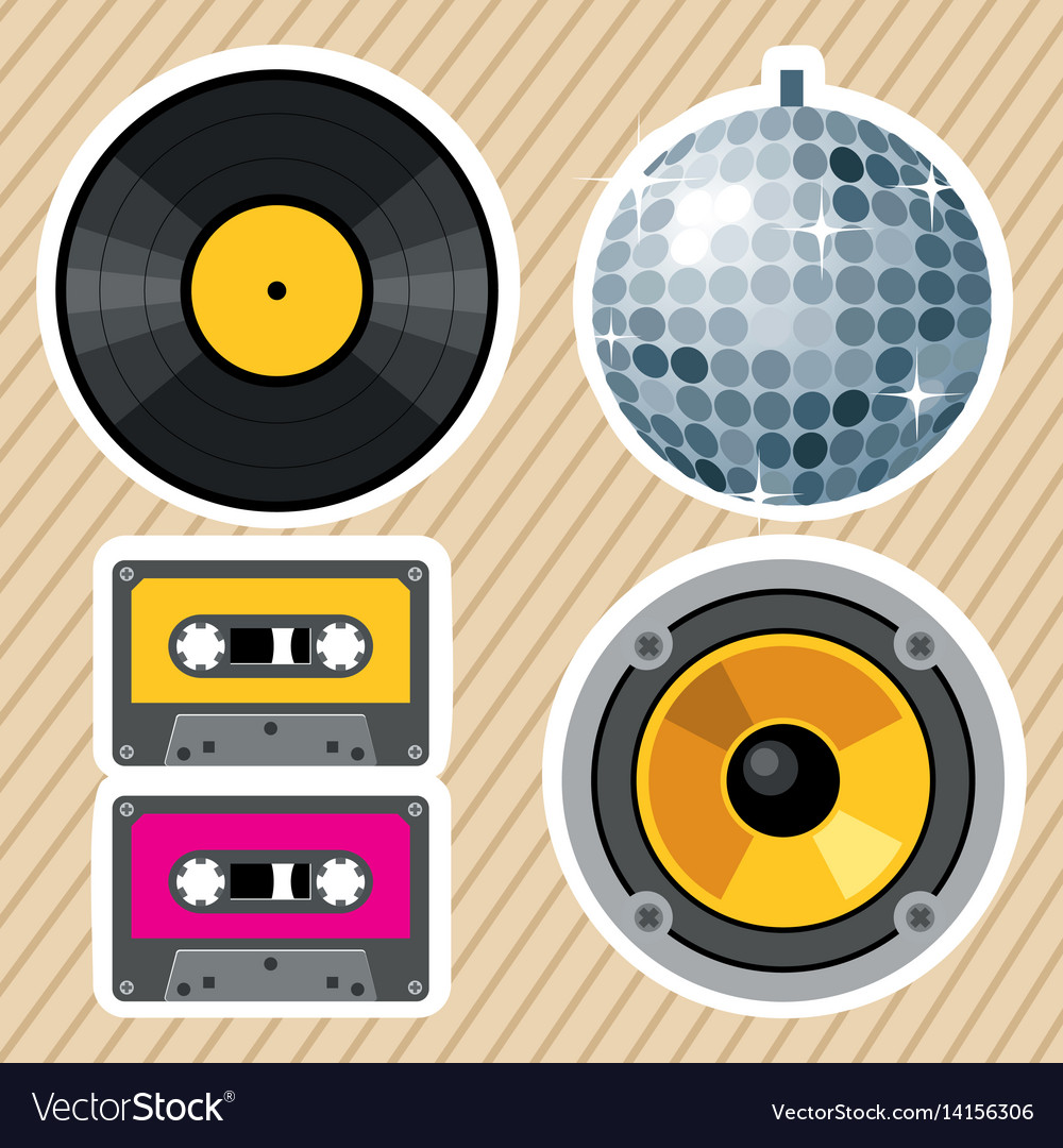 Retro vintage design elements vector image
