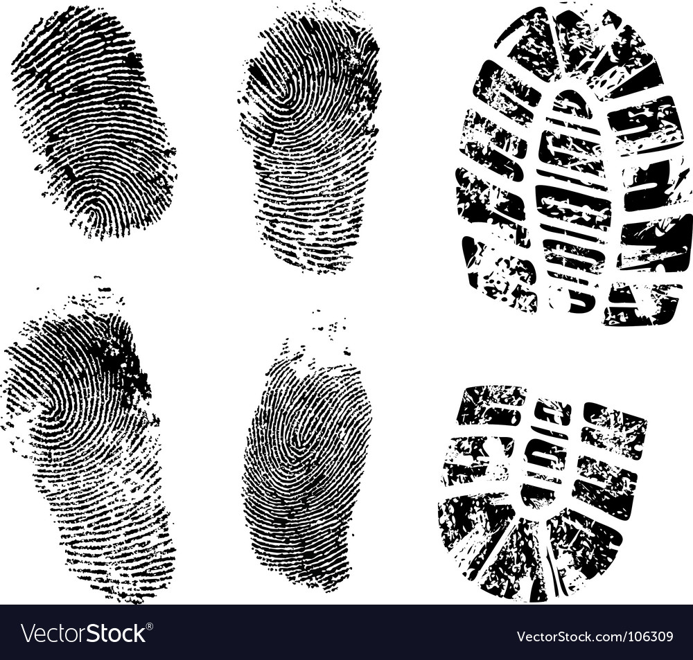 Ink prints vector image