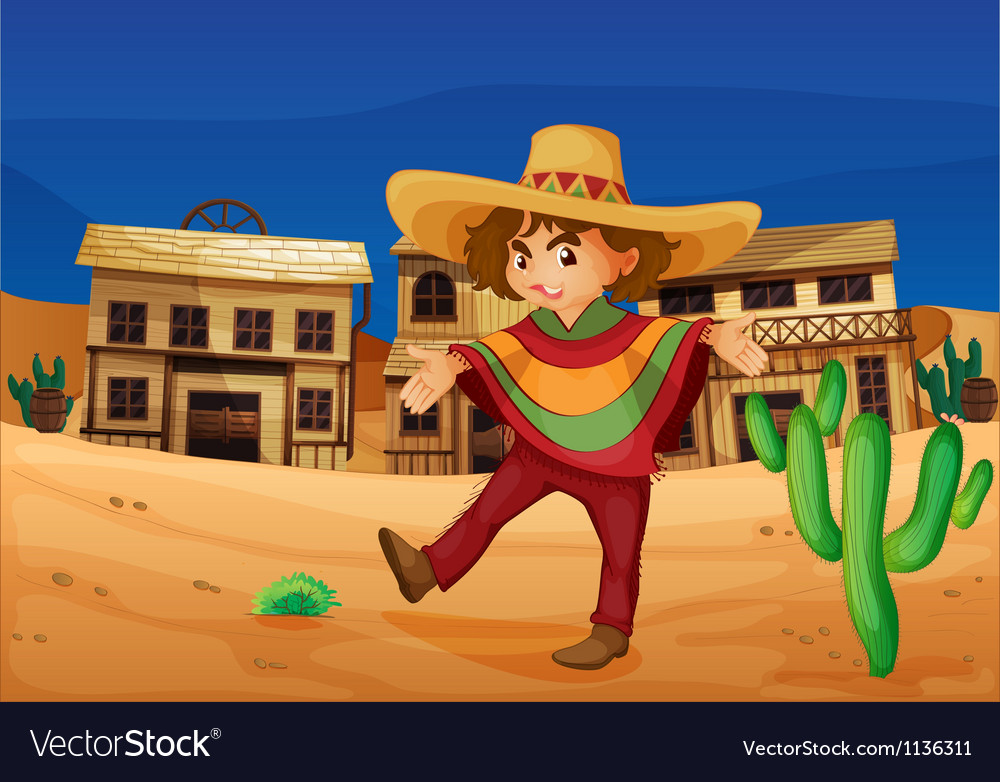 A mexican girl vector image