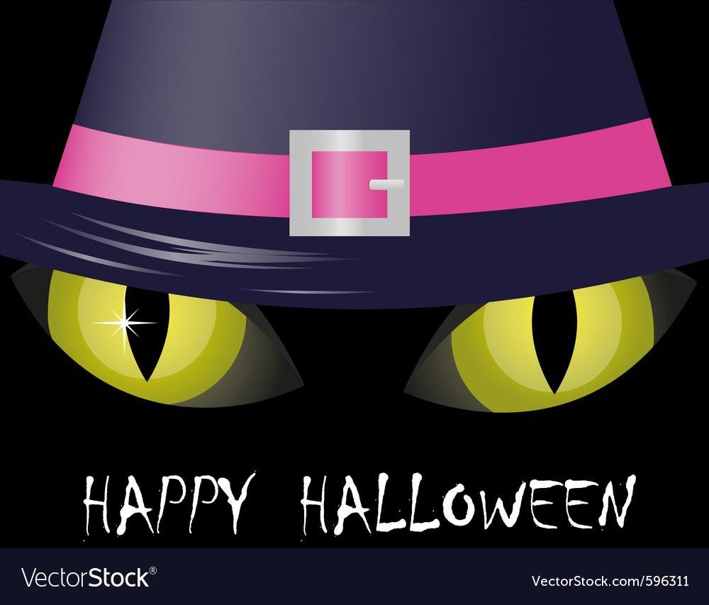 Cat eyes halloween vector image