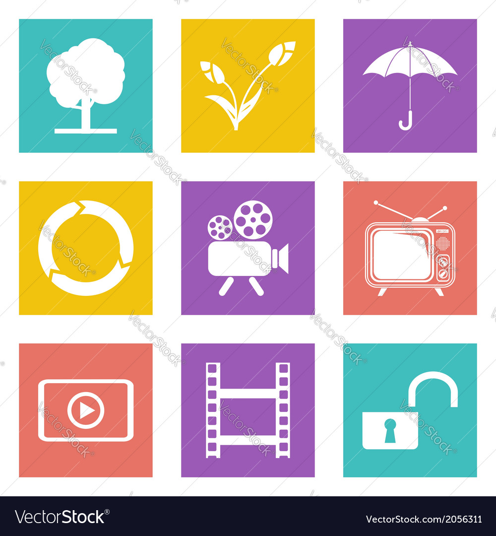 Color icons for Web Design set 44 vector image