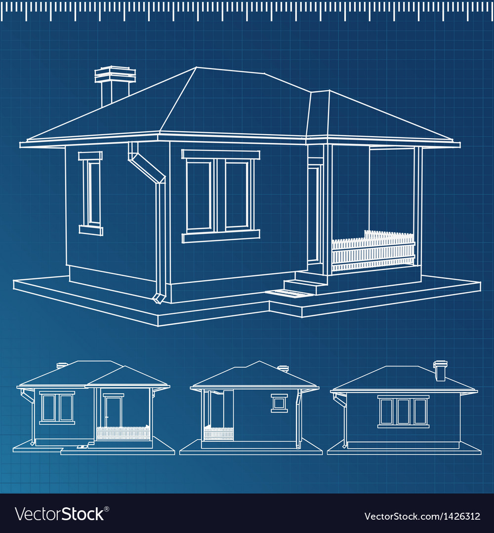 House blueprint royalty free vector image vectorstock house blueprint vector image malvernweather Images