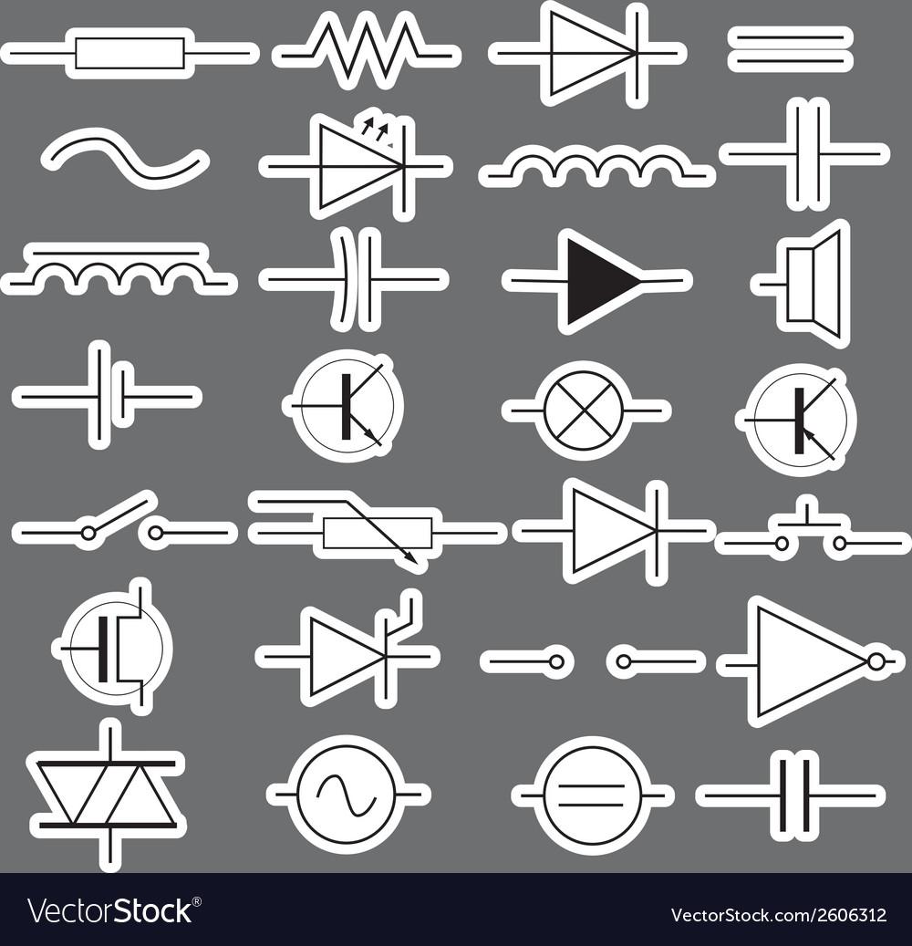 Schematic symbols in electrical engineering vector image schematic symbols in electrical engineering vector image biocorpaavc