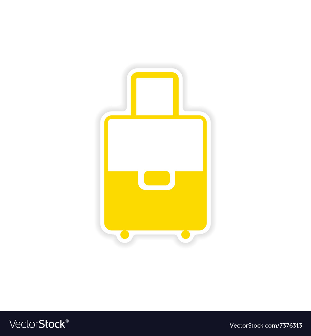 Icon sticker realistic design on paper valise