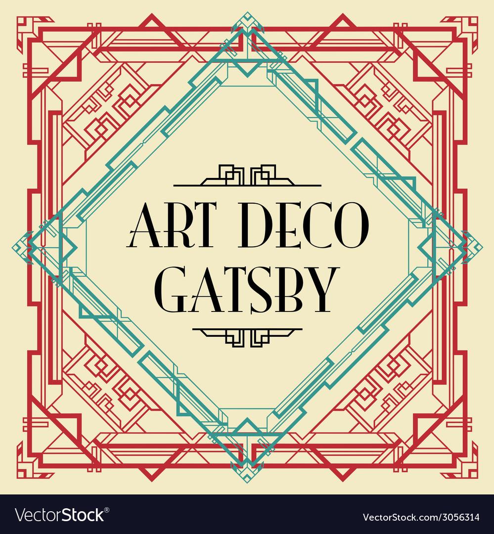 Art deco gatsby wedding invite royalty free vector image art deco gatsby wedding invite vector image stopboris Image collections