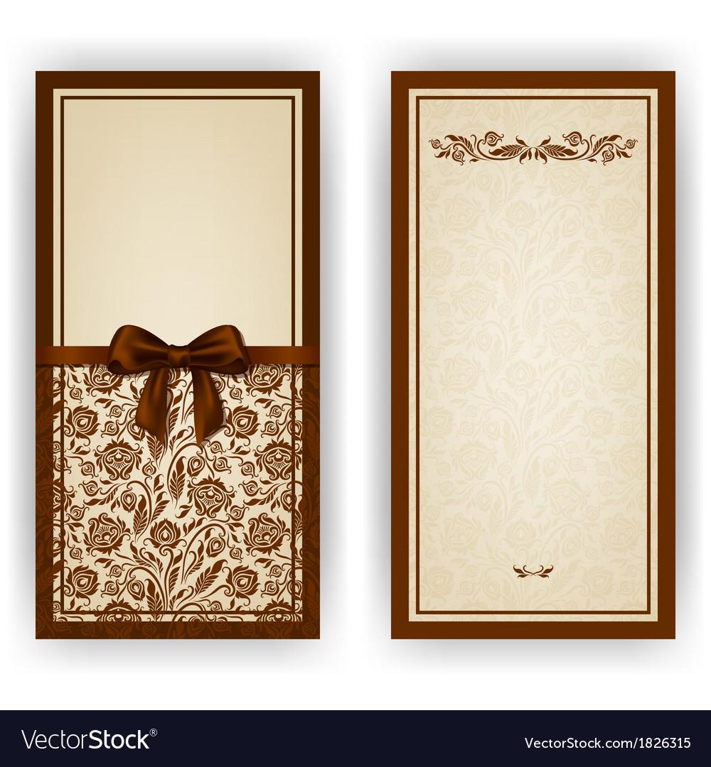 Elegant template for invitation card vector image