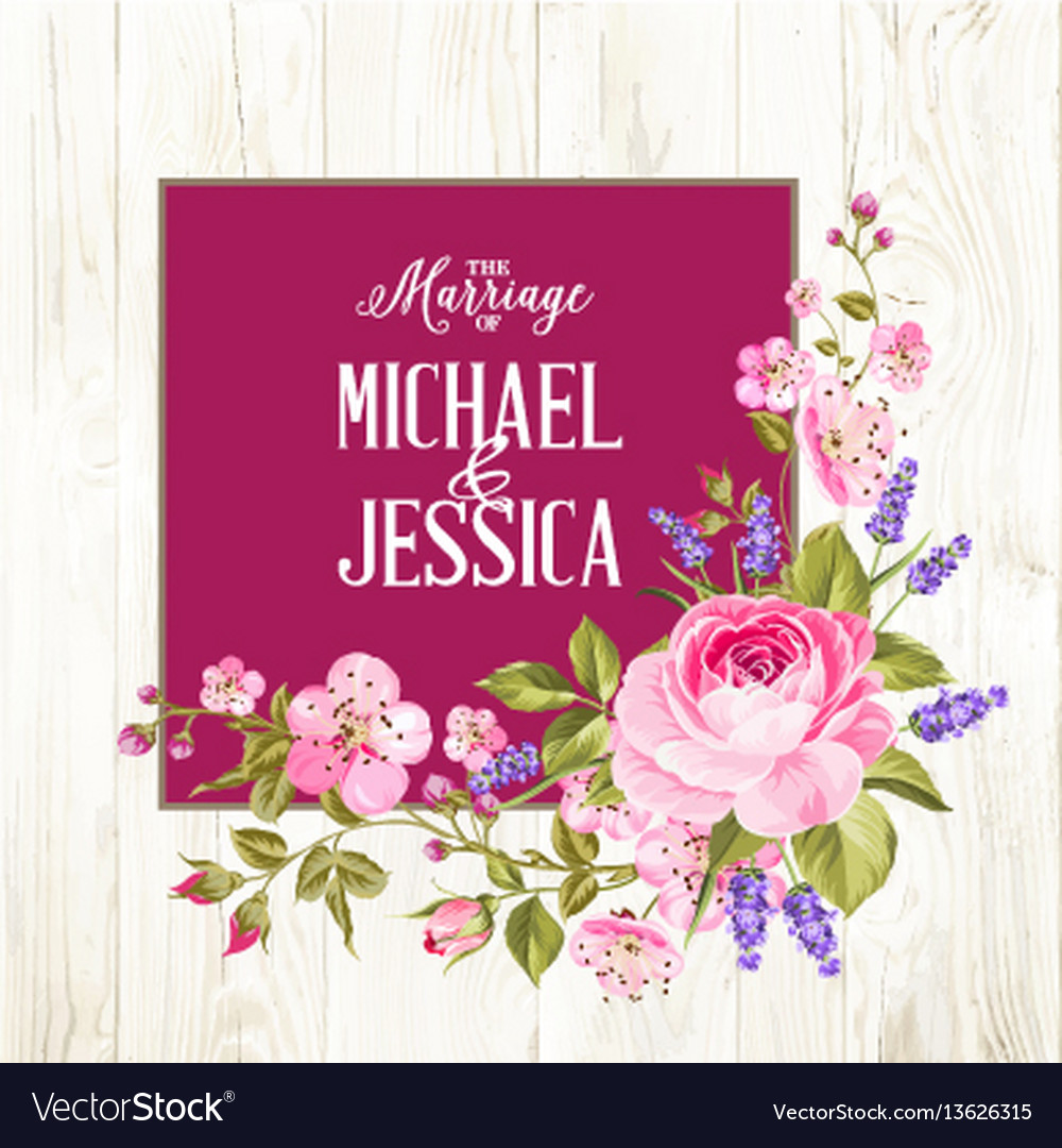 Marriage invitation card royalty free vector image marriage invitation card vector image kristyandbryce Gallery