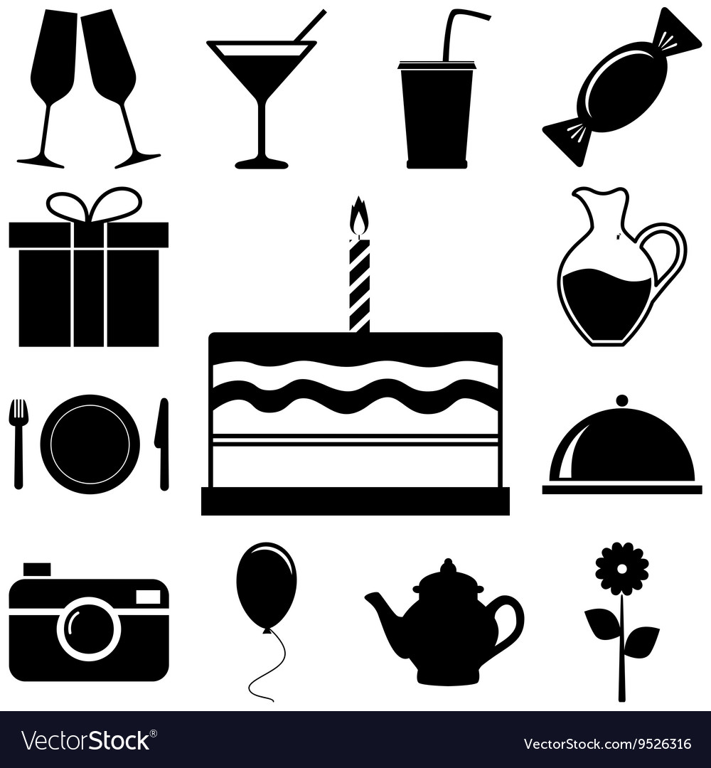 Holiday and party signs set vector image