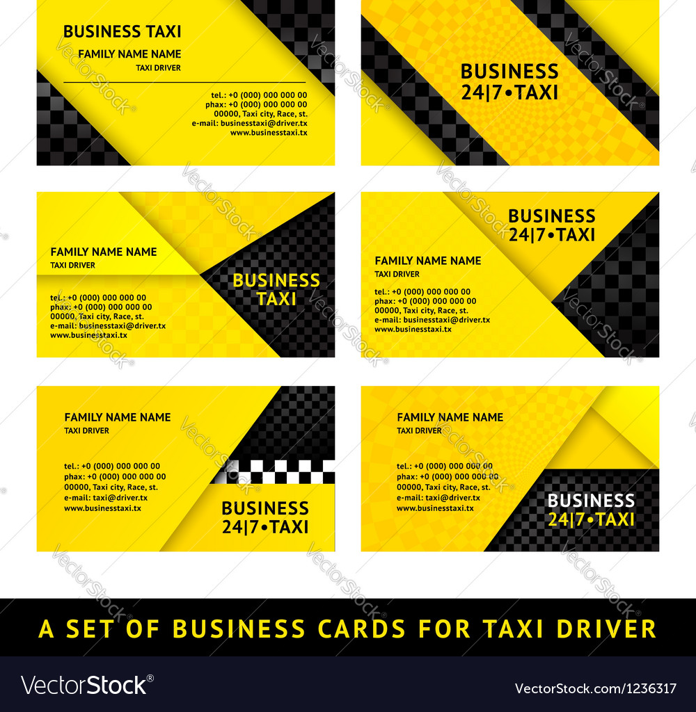 Business card taxi - ninth set Royalty Free Vector Image