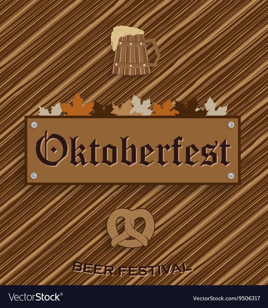 Oktober fest background vector image
