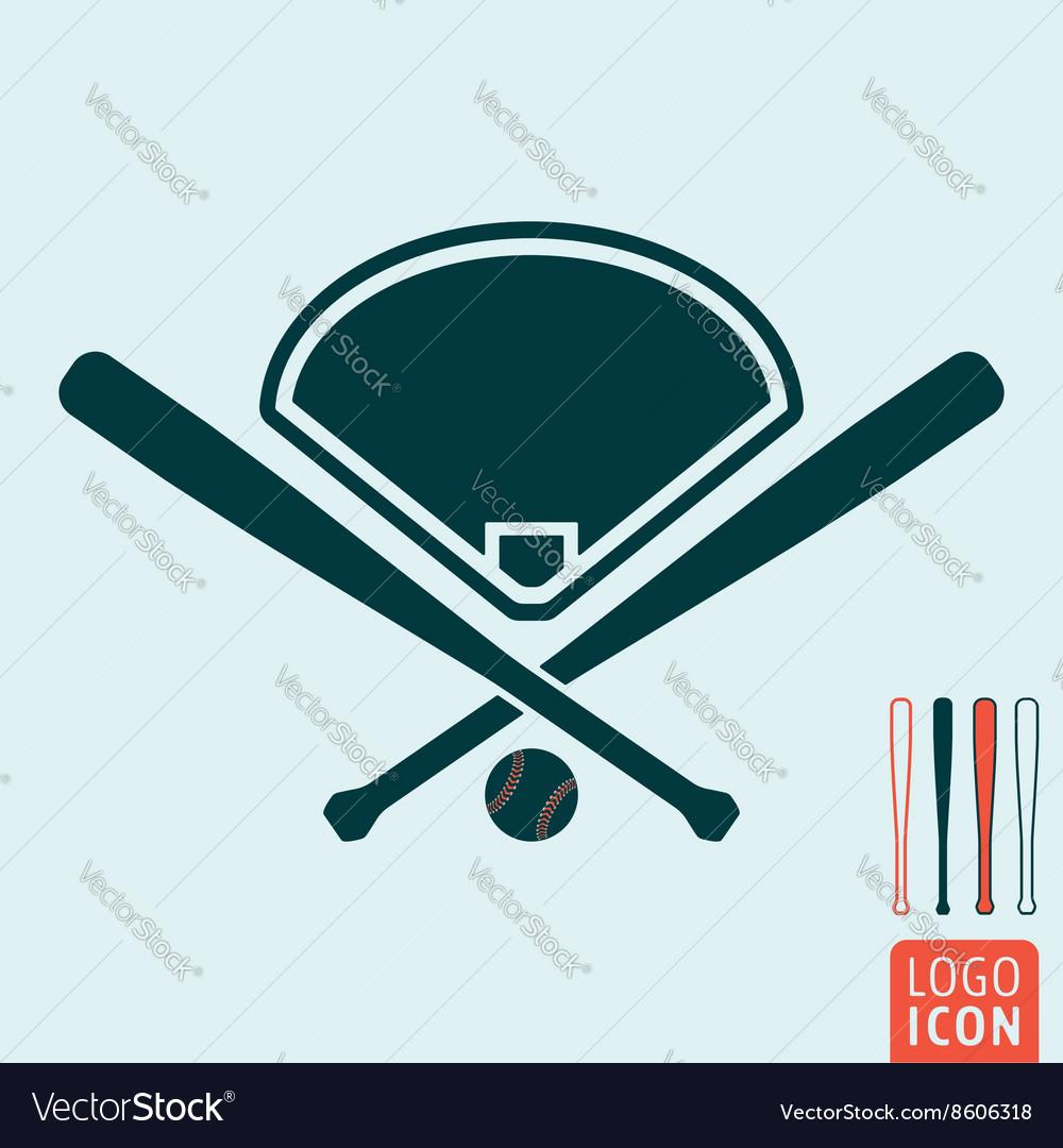Baseball icon isolated vector image